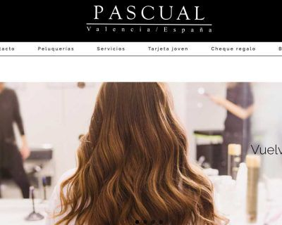 Programación web Peluquerías Pascual Valencia