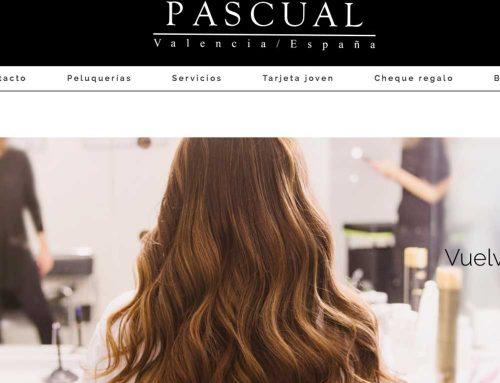 Página web Peluquerías Pascual