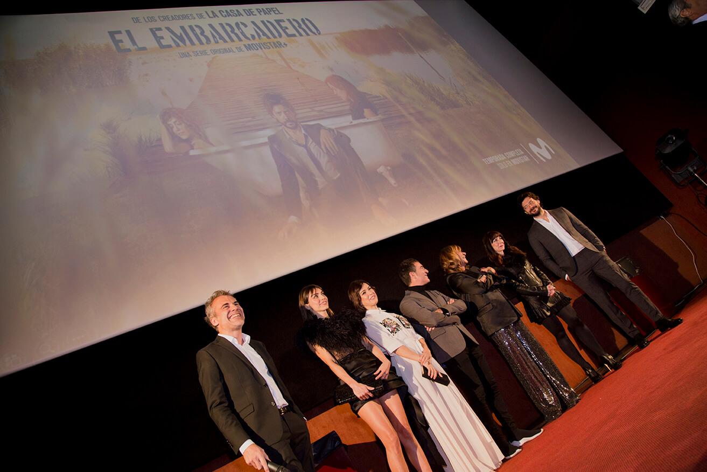 Actores de la serie presentando en Cines Lys de Valencia