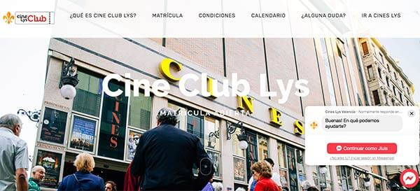 web de cine club lys