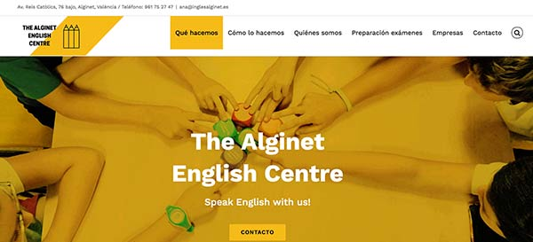 web de inglés Alginet