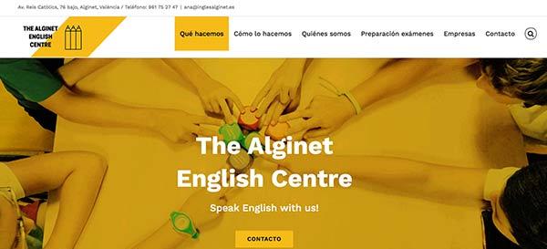 web de inglés Alginet
