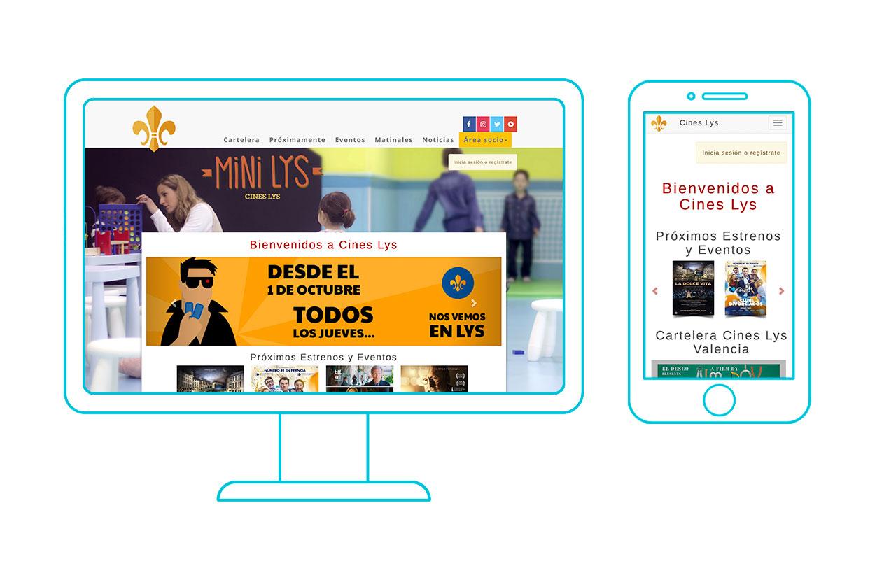web a medida cines LYS